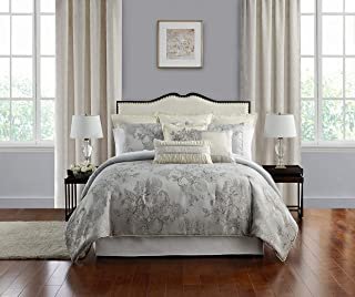 Marquis By Waterford LACY Comforter Set, Queen, Silver