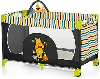 Hauck Kinderreisebett Dream N Play Go Disney/ inklusive Rollen, Matratze und Tasche / 120 x 60cm / ab Geburt / tragbar und faltbar / Pooh Tidy Time Schwarz