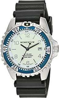 Unisex M1 Splash Watch | 200m / 660 ft Water Resistant | Rotating Dive Bezle | Black Band