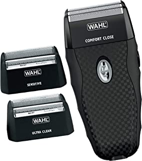 Wahl Flex Shave Rechargeable Foil Shaver for Sensitive Skin with Built-in Pop Up Trimmer and 3 Interchangeabe Shaving Head...