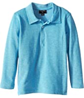 Oscar de la Renta Childrenswear - Heathered Long Sleeve Polo (Toddler/Little Kids/Big Kids)