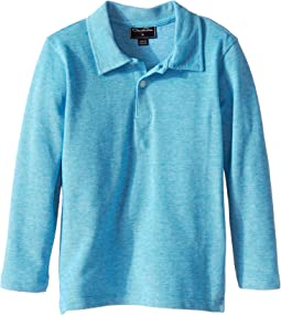 Heathered Long Sleeve Polo (Toddler/Little Kids/Big Kids)