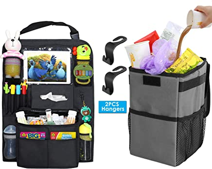 Modokit Car Trash Can   Car Seat Organizer with Cooler Bag Bundle -  Leakproof Car Hanging 30783a63e49a9
