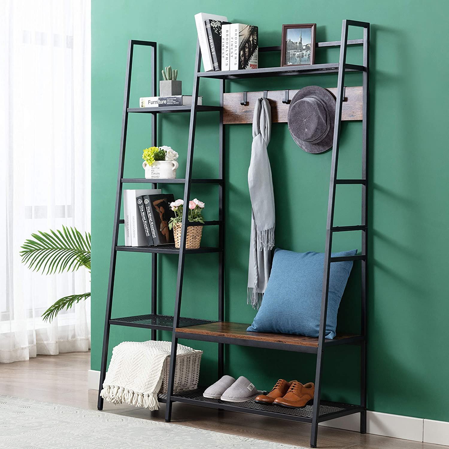 Coat free Superior Rack Shoe Bench 3-in-1 Multi Hall with Storage Tree