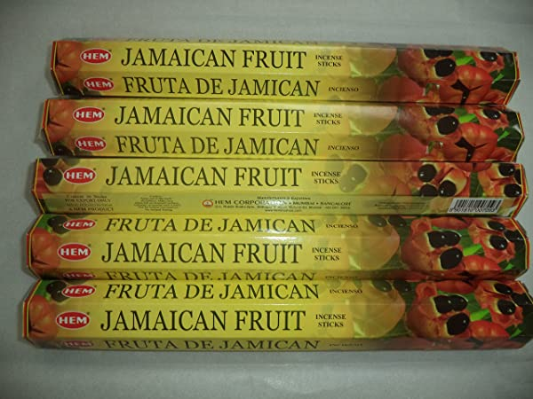 HEM Jamaican Fruit 100 Incense Sticks 5 X 20 Stick Packs