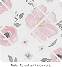 Sweet Jojo Designs Blush Pink, Grey and White Fabric Memory Memo Photo Bulletin Board for Watercolor Floral Collection