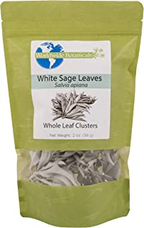 Worldwide Botanicals White Sage, California Whole Leaf Clusters, 100% pure, 2 oz