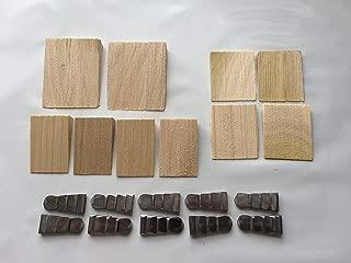 Beaver Tooth 20 Pack Hammer Hatchet Handle Wood & Metal Wedges