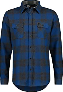 Flannel Shirt for Men - Dry Fit Long Sleeve Button Down - Moisture Wicking and Stretch Fabric Plaid Shirts