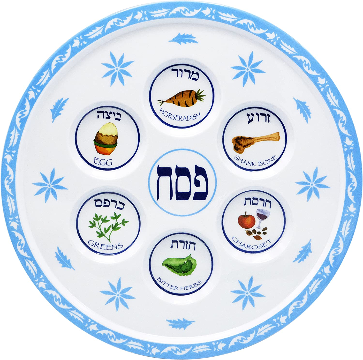 Max 61% OFF Tampa Mall Seder Plate Passover Design Melamine Floral