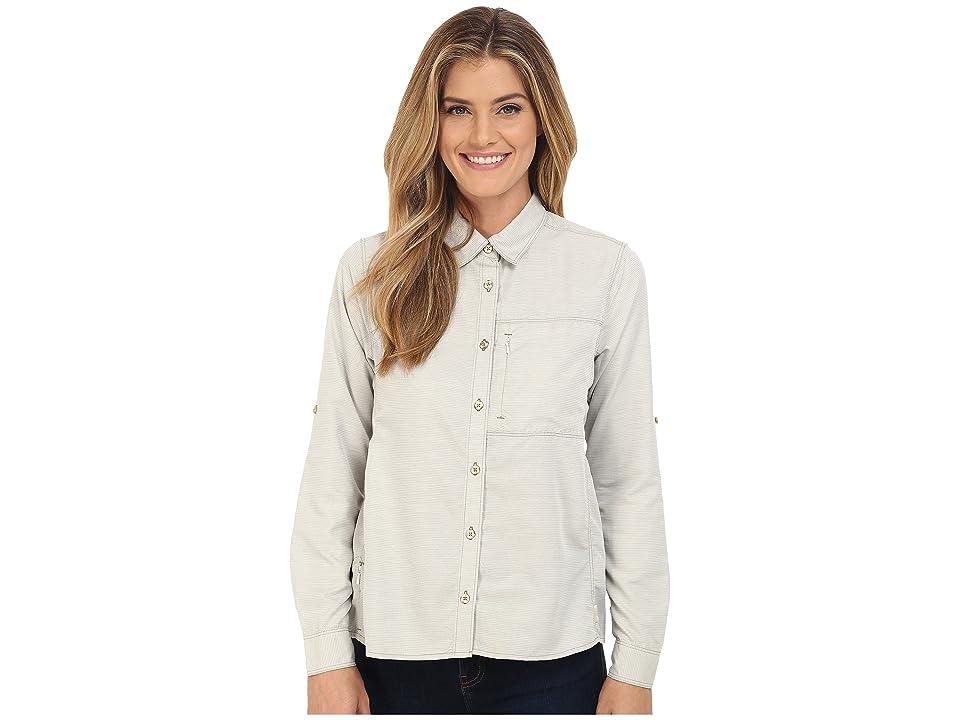Mountain Hardwear Canyontm Long Sleeve Shirt (Stone Green) Women
