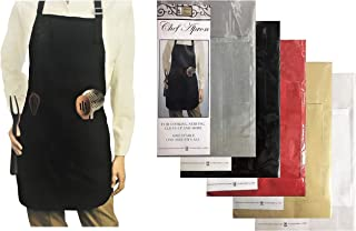 Better Home Chef Kitchen Apron, Strong Vinyl Backing with Convenience Pockets, Adjustable Size Fits All, Unisex Bib Fashio...