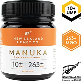 New Zealand Honey Co. Raw Manuka Honey UMF 10+ | MGO 263+, 8.8oz / 250g