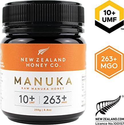 New Zealand Honey Co. Raw Manuka Honey UMF 10+   MGO 263+, 8.8oz / 250g