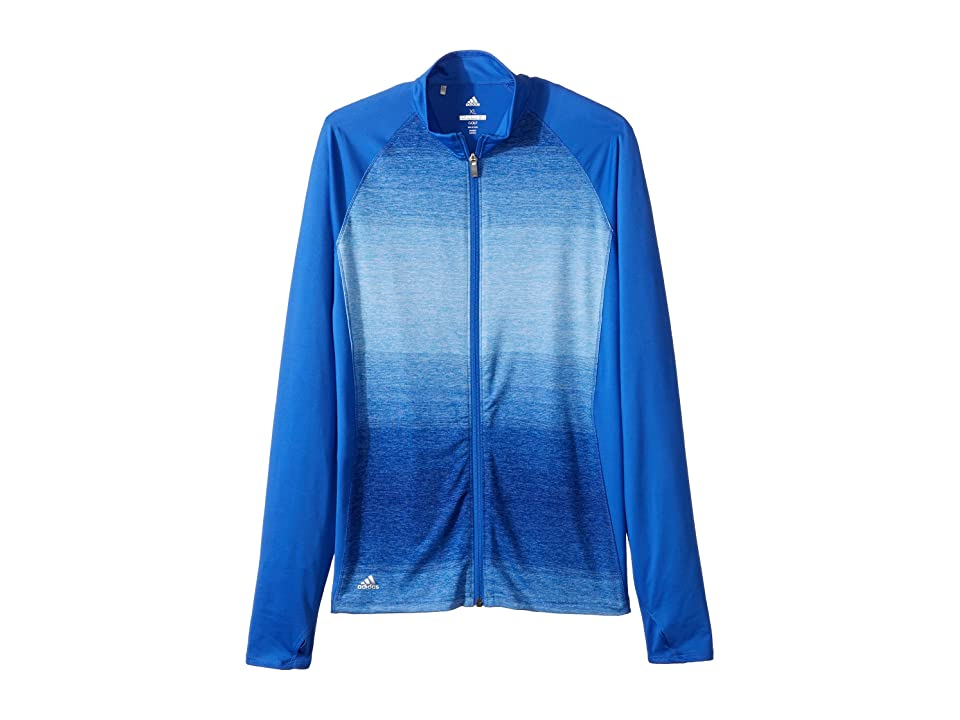 adidas Golf Kids Rangewear Full Zip Jacket (Big Kids) (Hi-Res Blue) Girl