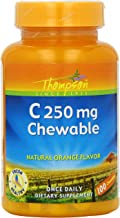 Thompson C Tablets, Orange, 250 Mg, Chewable, 100 Count (Pack of 2)