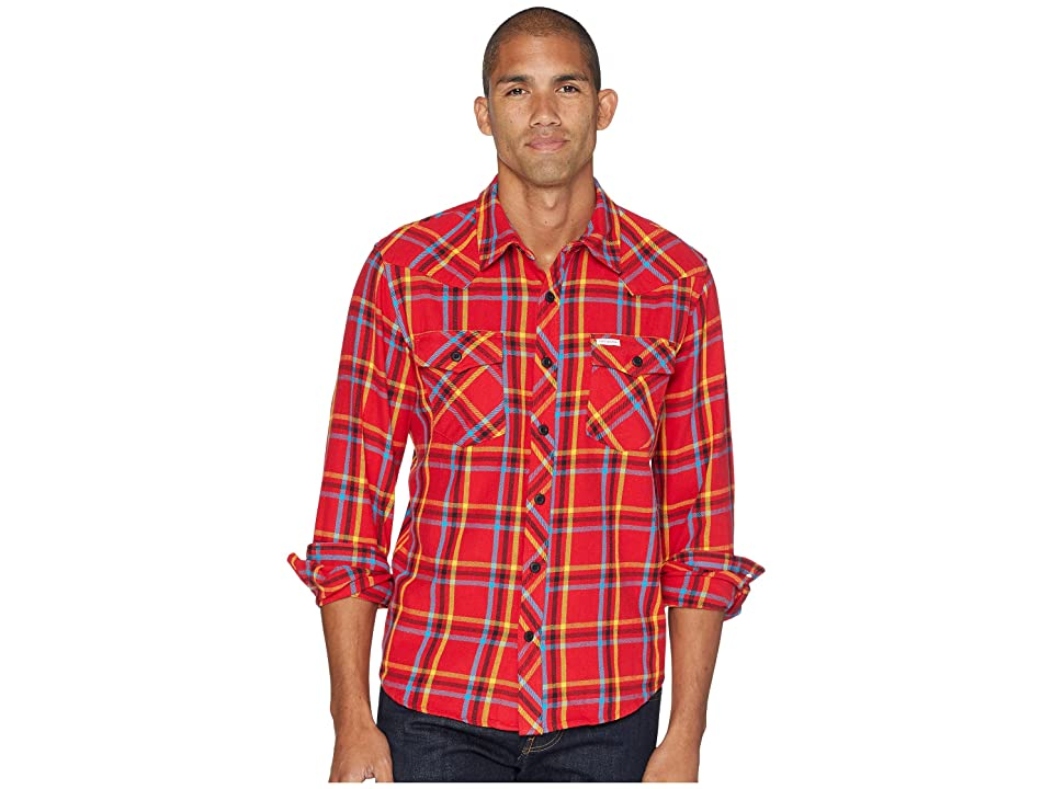 Topo Designs Mountain Shirt Plaid (Red) Men