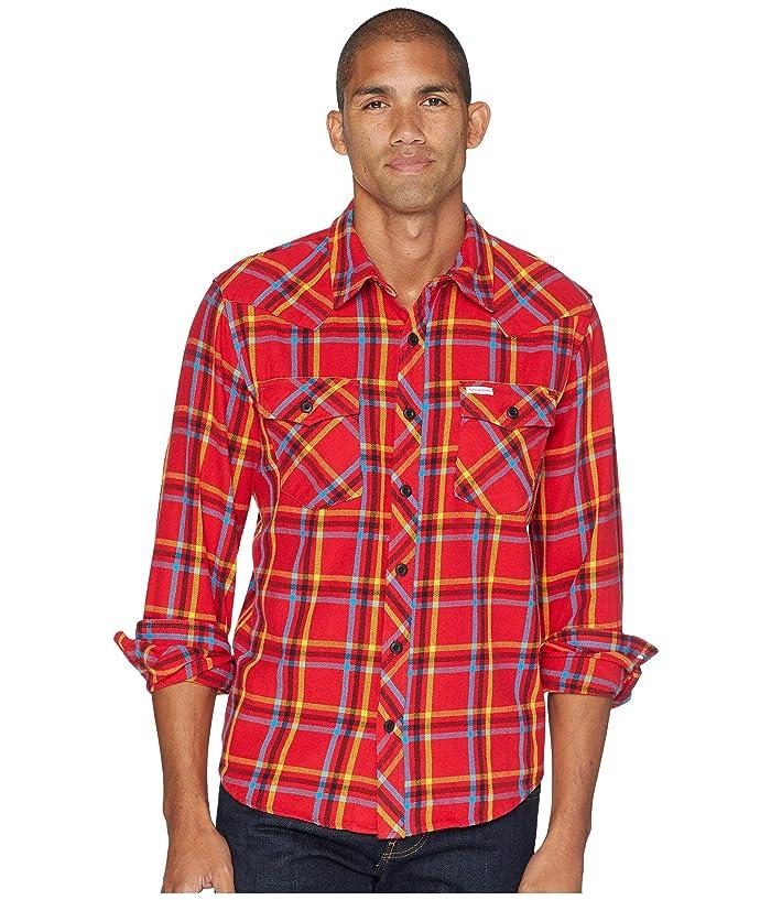 Topo Designs Mountain Shirt Plaid (Red) Men