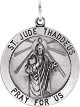 Sterling Silver 25 mm St. Jude Thaddeus Medal