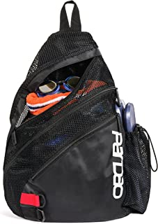 Aerify Mesh Swim Bag - Swimming Pool & Wet Clothes Backpack - Gift for a Swimmer - Sports Workout Gym Bag for Men and Women - Small (Black)