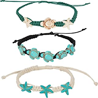 Turtle Starfish Howlite Bracelet or Anklet Set Beach Collection