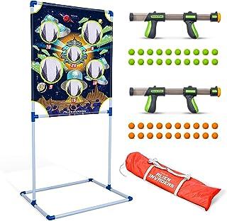 GoSports Foam Fire Games | Choose Alien Invaders or Trophy Hunt Targets – Set Includes 2 Toy Blasters for Kids and 40 Foam Balls