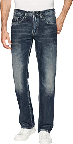 Six Straight Leg Jeans in Scratched and Sandblasted