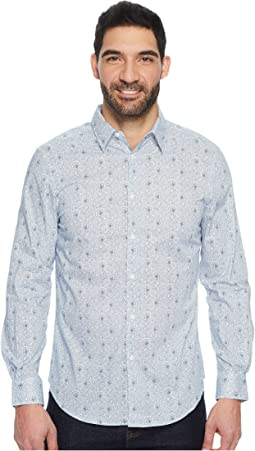 Perry Ellis - Long Sleeve Mosaic Paisley Shirt