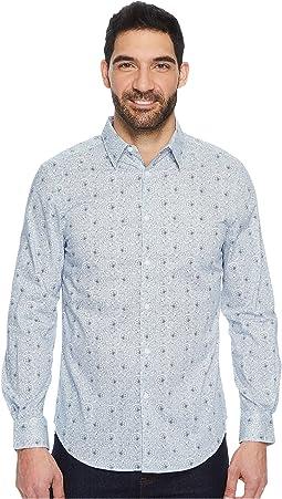 Perry Ellis - Long Sleeve Mosaic Paisley Shirt