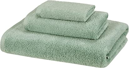 AmazonBasics 3 Piece Cotton Quick-Dry Bath Towel Set - Seafoam Green AmazonBasics Quick-Dry, Luxurious, Soft, 100% Cotton ...