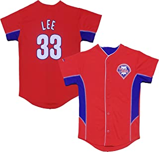 Cliff Lee Philadelphia Phillies #33 Red Youth Team Leader Jersey
