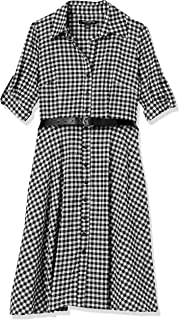 Sharagano womens Gingham dress Business Casual Dress