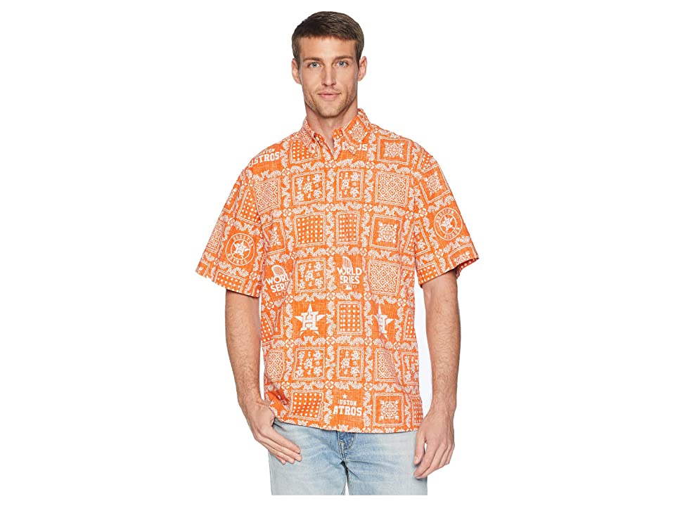 Reyn Spooner Houston Astros Original Lahaina Classic Fit Hawaiian Shirt (Orange) Men