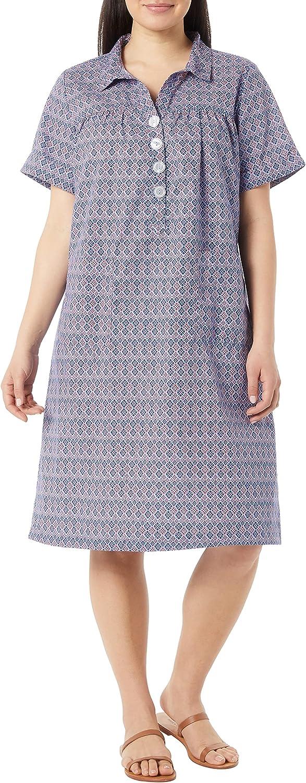 AmeriMark Women's Short Sleeve House Dress - Patio Dress with Pockets