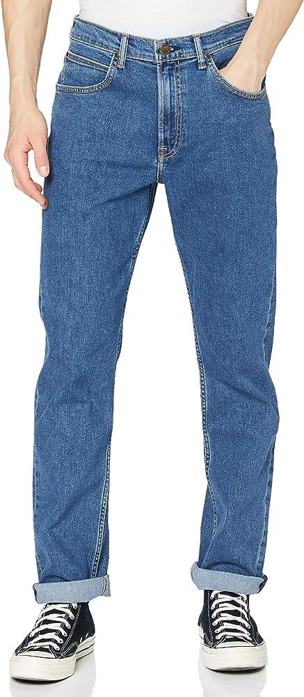 Lee brooklyn straight, jeans per uomo,99% cotone, 1% elastan L45271KX