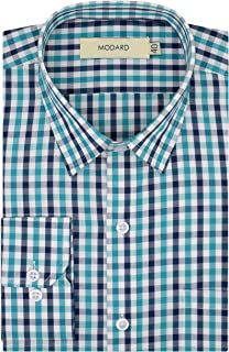 MODARD Checkered 100% Giza Cotton Full Sleeves Regular Fit Formal Shirt for Men