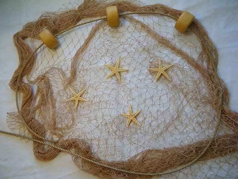 10 Ft X 8 Ft Fishing Net Fish Netting Floats Starfish Rope Nautical Decor Fish Net