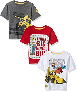 Bob the Builder Toddler Boys' Bob 3 Pack Tee Shirts, Multi