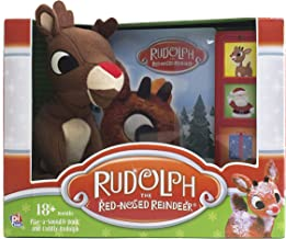 Rudolph the Red-Nosed Reindeer Board Sound Book and Plush Toy - PI Kids