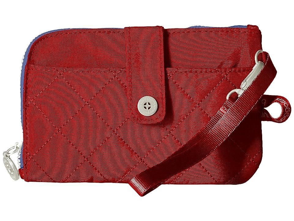 Baggallini RFID Passport Phone Wristlet (Red/Navy) Wristlet Handbags