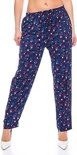 Crazy Age damskie długie nadrukowane letnie spodnie do jogi styl z elastyczną talią spodnie na co dzień spodnie na zakupy ...