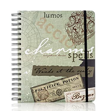 """Conquest Journals Harry Potter Hogwarts 2021 Weekly Planner, Limited Edition, Vertical Format, Wrapped Book Board Cover, Spiral Bound, 4 Sticker Sheets, Elastic Closure Strap, Bookmark, 7.5""""x9"""""""