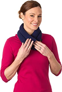 Sunny Bay Extra Long Neck Heating Wrap, Heat Therapy Pad for Sore Neck & Shoulder Muscle Pain Relief – Thermal, Personal, Reusable, Non Electric Hot Pack Pads or Cold Compress, 2.5 lb, Blue