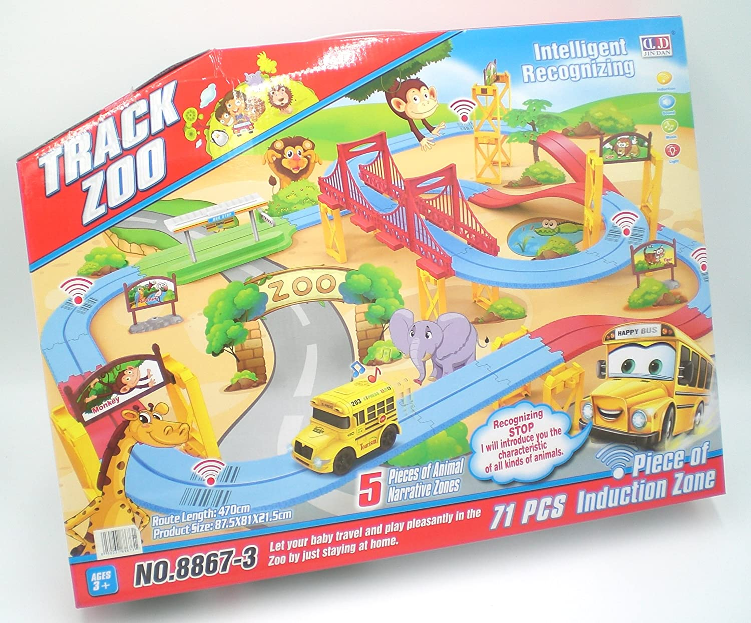 Zoo Train Battery Operated Toy with Animal Sounds