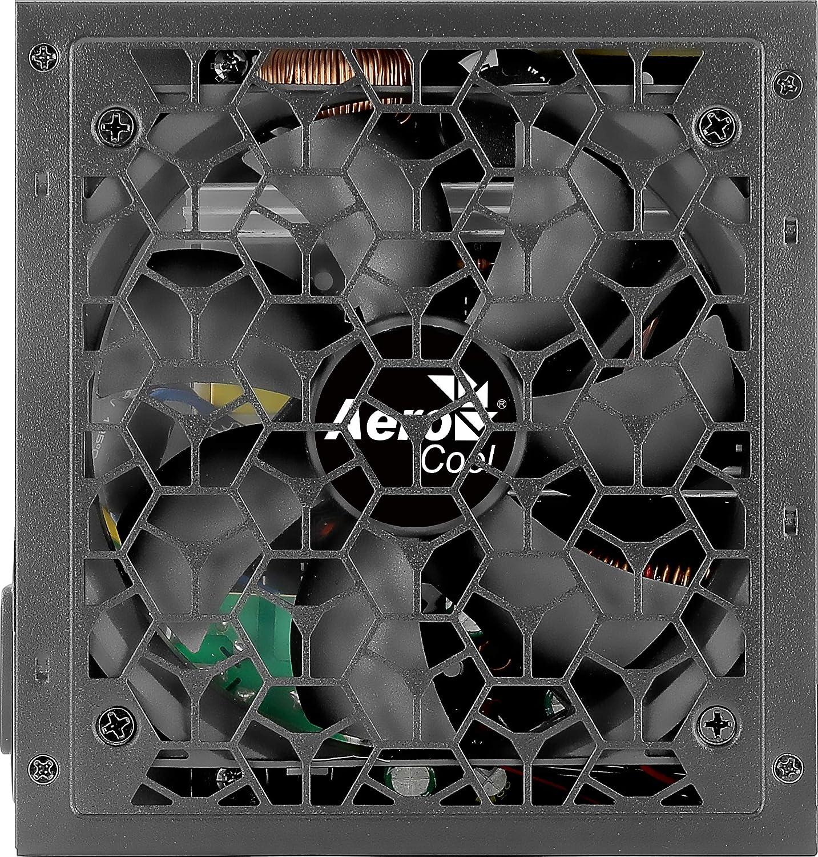 Aerocool Aero White 650W Fuente Alimentación, 80Plus 230V, Silencioso, Negro