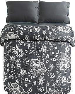 kensie Kittery Duvet Covers, Steel-Grey