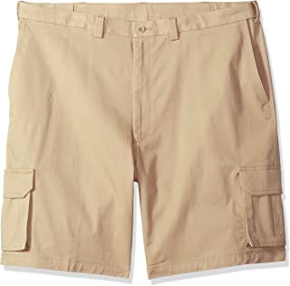 Men's Big and Tall Stretch Comfort Cargo Flat Front Short