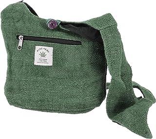 GURU SHOP Kleiner Schulterbeutel, Hanftasche - Olivgrün, Herren/Damen, 20x25 cm, Alternative Umhängetasche, Handtasche aus...