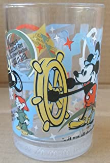 Collectible McDonald's Walt Disney World 100 Years of Magic Glass Cup - Old Mickey Mouse