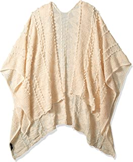Jessica Simpson Women's Textured Ruana, cream, One Size